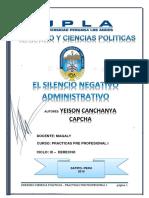 Monografia de Silencio Administrativo
