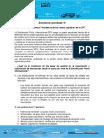 Actividad de Aprendizaje 10_Evidencia 8_Sesión Virtual _Incidencia de Los Costos Logísticos en La DFI