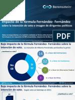 Impacto de la fórmula Fernández- Fernández sobre la intención de voto e imagen de dirigentes políticos- Mayo 2019- 2