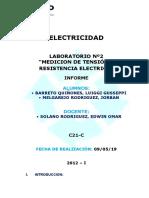 Laboratorio 1º Electricidad
