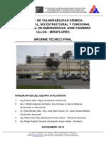 Estudio de Vulnerabilidad Sismica Estructural, No Estructural y Funcional Hospital de Emergencias Jose Casimiro Ulloa, Miraflores