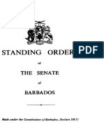 Standing Orders of the Senate of Barbados