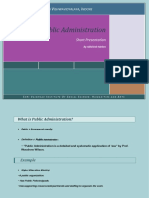 What is Public Administration