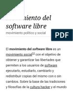 Movimiento Del Software Libre - Wikipedia, La Enciclopedia Libre