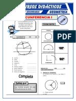 Circunferencia Ejercicios Para Quinto de Secundaria