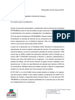 Carta a Presidente de La República Oriental Del Uruguay