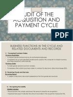 Audit Acquisition Cycle