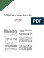 Greene, K., Derlega, V., & Mathews, A. (2006). Self-disclosure in personal relationships. In A. Vangelisti & D. Perlman (Eds.), The Cambridge handbook of personal relationships..pdf