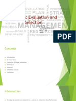 Strategic Evaluation and Selection