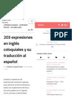 203 expresiones en inglés coloquiales y su traducción al español - El Blog de Idiomas.pdf