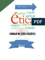 Codigo de Etica Año 2019----Actualizado
