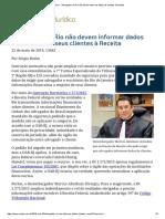 ConJur - Advogados do Rio não devem informar dados de clientes à Receita.pdf