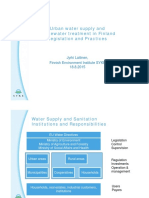 Urban Water Supply and Wastewater Treatment in Finland