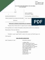 Baker McKenzie Confirm DOJ Investivation of Batistas