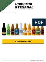 Receita cerveja clone