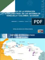 Análisis de La Operación Interconectada de Los Sistemas de Venezuela y Colombia - Ecuador