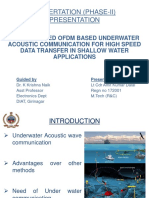 OFDM Based Underwater Acoustic Communication in Shallow Water Using Multiple Transreceivers