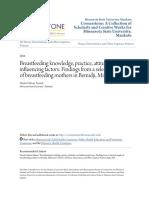 Breastfeeding Knowledge Practice Attitudes