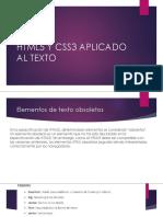 HTML Y CSS APLICADO AL TEXTO
