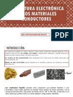 Estructura Electrónica de Los Materiales Conductores