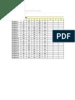 Planilla de Excel de Encuesta