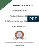 5th Sem CSE Manual