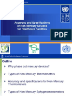 UNDP GEF Project NonHg Devices Specifications Philippines Oct 2010