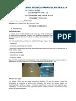 Analisis de Aguas