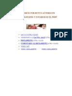 Divorcio en Municipalidades y Notarias en El Perú