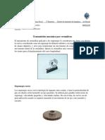 Transmisión de Cremallera Dientes Rectos y Helicoidales - Andrei Villamar