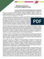 Manifiesto de Huancayo