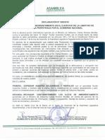 Declaratoria de la Asamblea cruceña contra amedrentamiento del Gobierno a la prensa