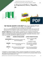 Definición Tamaño Empresarial Micro, Pequeña, Mediana o Grande
