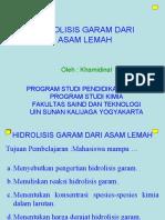 Hidrolisis Garam Natrium Asetat
