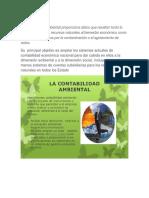 La contabilidad ambiental proporciona datos que resaltan tanto la contribución de los recursos naturales al bienestar económico como los costos impuestos por la contaminación o el agotamiento de estos.docx