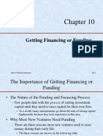 10 - Getting Financing or Funding
