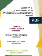 Sujetos Del Proc. Administrativo