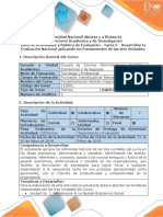 Guía Actividades y Rúbrica Evaluación Tarea 5 Desarrollar Evaluación Nacional Aplicando Fundamentos de Las Tres Unidades