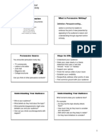 Persuasive Techniques, Logical Fallacies, And Persuasive Essay Presentation--For PRINTING