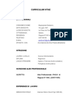 Curriculum Formativo Profession Ale e Vitae
