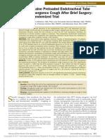 Alkalinized Lidocaine Preloaded Endotracheal Tube.39