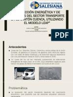 Proyección Energética y de Emisiones Del Sector