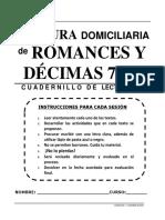Lectura Domiciliaria. Romances y Décimas