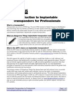 Introduction to Implantable Transponders for Professionals
