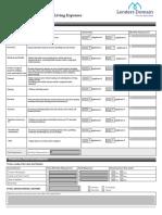 Lenders Domain Client Expense Detail