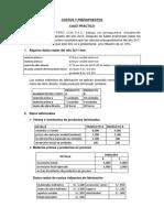 Costos y Presupuestos Caso Practico