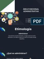 Área Funcional de Administración