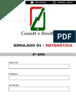 Simulado 01 - Matemática - 4º Ano (Blog Do Prof. Adonis).