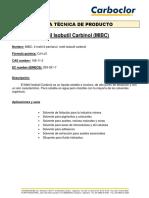 MIBC Ficha Técnica de Producto Carboclor SA