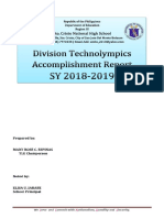 Division Technolympics 2018 Accomplishment Report